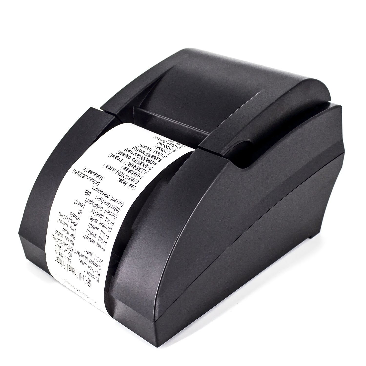USB Thermal Receipt Printer,Symcode Ethernet/LAN, Serial Port - Auto Cutter - Cash Drawer Port - Paper Width 2 1/4'' (58mm) - Works on Windows XP/Vista/7/8/8.1/10 Uses