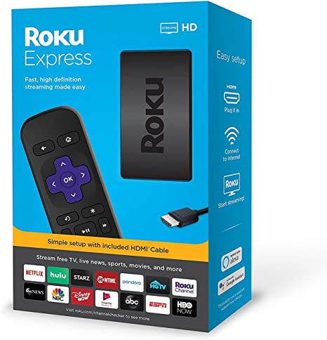 Roku Express HD Streaming Media Player 2019 E