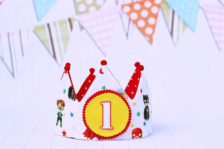 Corona de cumpleaños Superhéroes decoración de fiesta ...