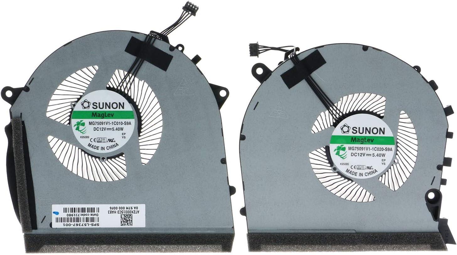 TRADOCK Ventilador de CPU y GPU para HP OMEN 17-CB RTX2060 GTX 1650 L57367-001 L62864-001 MG75091V1-1C010-S9A MG75091V1-1C020-S9A