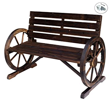 Prime Amazon Com Eight24Hours Wagon Wheel Bench Garden Chair Unemploymentrelief Wooden Chair Designs For Living Room Unemploymentrelieforg