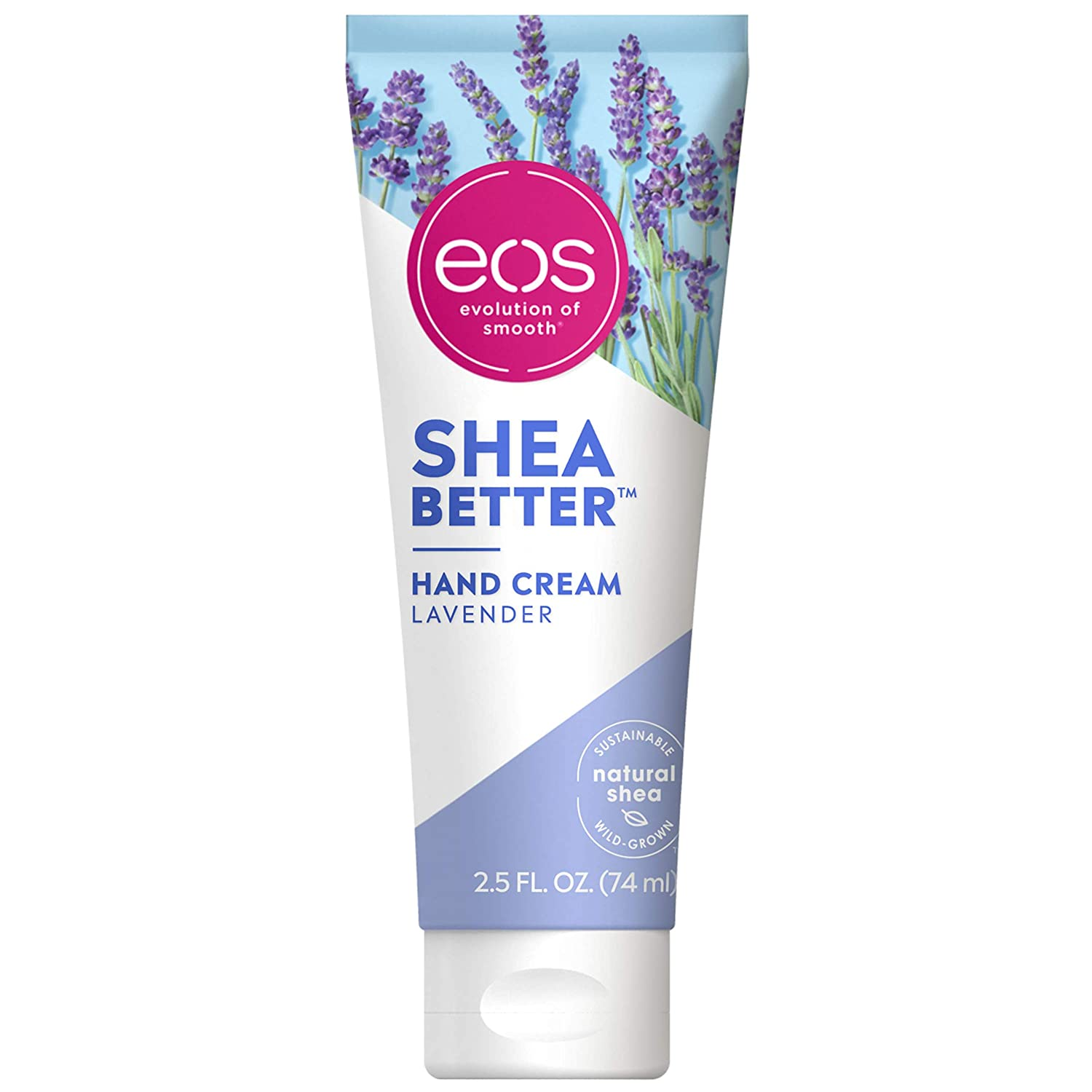 eos Shea Better Hand Cream - Lavender | 24 Hour Hydration that Lasts through Handwashing | Fast-Absorbing & Non-Greasy | 2.5 oz