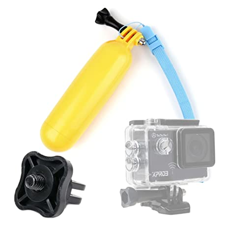 DURAGADGET Flotador Color Amarillo para Cámara De Acción TecTecTec!® XPRO3 / TecTecTec XPRO4 +