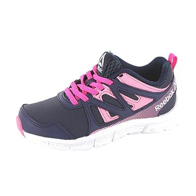 buy popular 7f449 1efdd Reebok Run Supreme 2.0 Chaussures de Fitness Fille, Multicolore (Collegiate  Navy Blu Ink