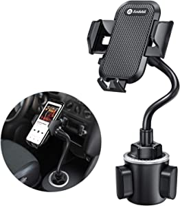 Andobil Cup Holder Phone Mount Ultimate Easy Clamp Hands-Free Cup Phone Holder for Car, Adjustable Gooseneck Cup Cradle Mount Compatible for iPhone SE/11 Pro/XR/XS Max/X/8 Plus/Samsung S20/S10+/Note 9
