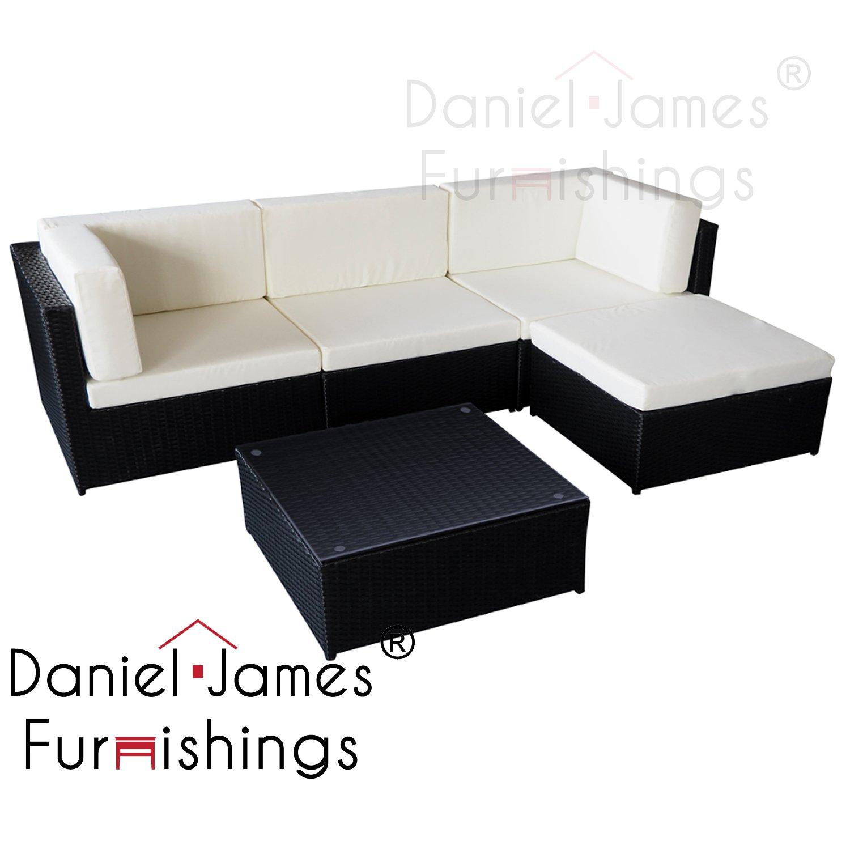 Brilliant Guaranteed4Less Rattan Garden Furniture Patio Corner Sofa Set Lounger Table Outdoor Conservatory Black Alphanode Cool Chair Designs And Ideas Alphanodeonline