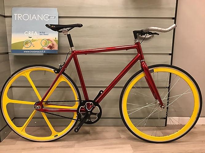 Bicicletta Fixed Scatto Fisso Single Speed Telaio In Alluminio F