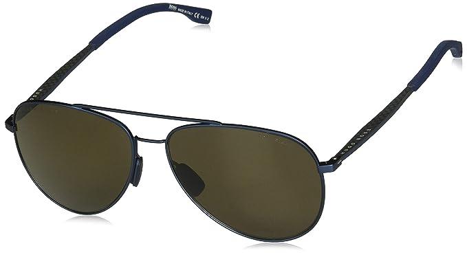 ae0cddb24e BOSS by hugo boss para hombre Boss 0938/S Aviator anteojos de sol  polarizadas,
