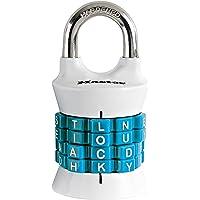 Master Lock 1535DWD Candado de Combinación con Letras para Recordar Fácilmente