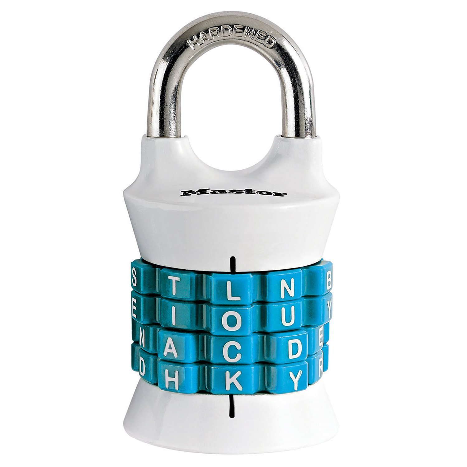 Master Lock 1535DWD Set Your Own Word Combination Padlock 1 Pack Assorted Colors