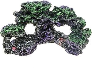 Saim Aquarium Mountain View Coral Reef Rockery Hiding Cave Stone Landscape Decor Fish Tank Ornaments