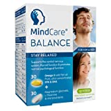 MindCare BALANCE Stay Relaxed, stress & anxiety support supplement - High Strength 660mg Omega-3 EPA & DHA Wild Fish Oil, Magnesium Glycinate, L-Theanine & Multivitamins, 60 capsules
