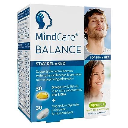 MindCare BALANCE, suplemento de apoyo para el estrés y ansiedad - aceite de pescado salvaje