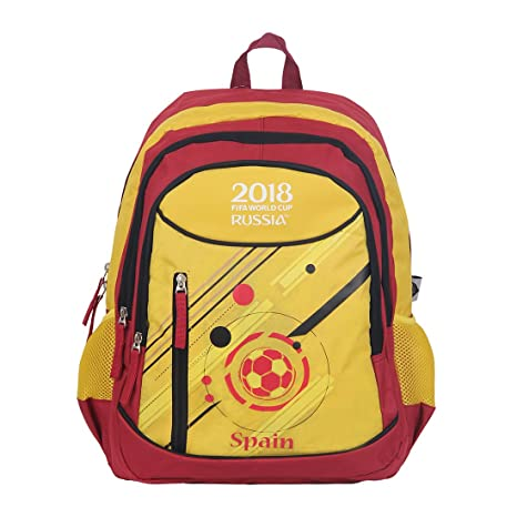 fifa 40 ltrs red yellow school backpack mbe ff007 amazon in bags