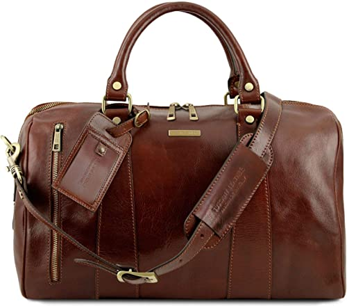 Tuscany Leather – TL Voyager – Travel leather duffle bag – Small size Brown – TL141216 1