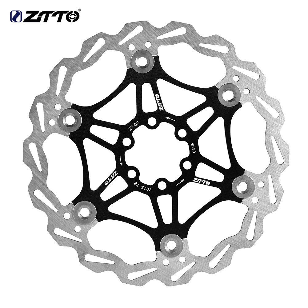 VGEBY Bike Disc Brake Rotor, Stainless Steel Disc Brake Rotors 6 Bolts Floating Brake Disc Pad for Road Mountain Bike(Black)