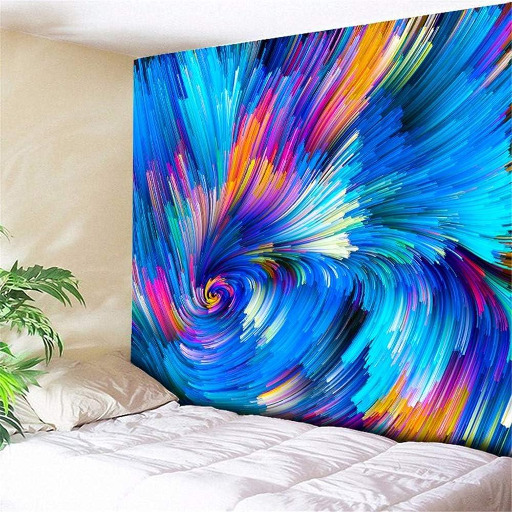 Abstracto tapiz de galaxia hippie colgante de pared arco iris remolino galaxia tapiz de pared espacio platillo volador tapicería decorativa toalla de playa estera de yoga tapiz de yoga - 230X150CM