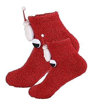 Litthing Calcetines para Padres Bebé Calcetín de Navidad Algodón 3D Dibujos Animados para Madre Hijos Mujer de Otoño Invierno Primavera Christmas Sock 2 ...
