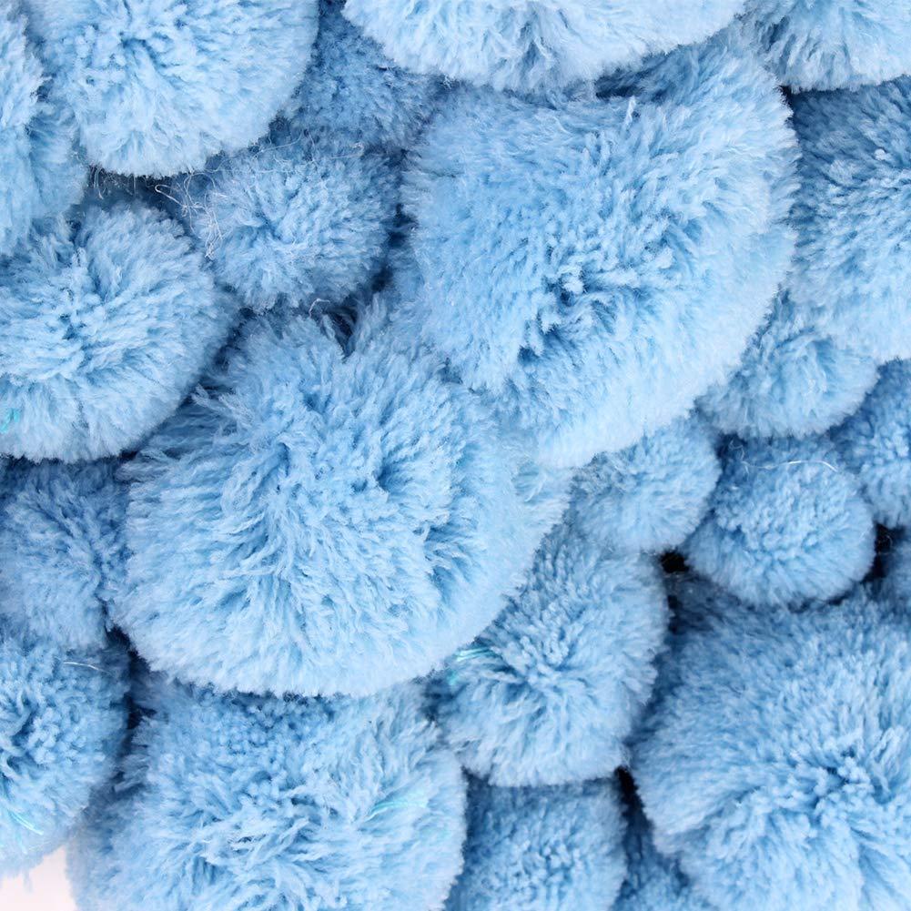LPxdywlk INS Nordic Wind Coral Pompom Nube Bola De Pelo Accesorios De Fotograf/ía Habitaci/ón De Beb/é Decoraci/ón De Habitaci/ón De Ni/ña Azul