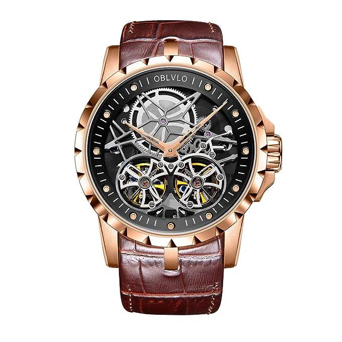 Amazon.com: Funda esqueleto relojes para hombre transparente ...