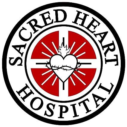 Amazon com: Sacred Heart Hospital Symbol Logo Repositionable