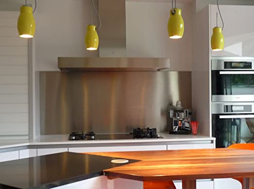 Pérgola de acero inoxidable cepillado para cocina/fondo de campana ...