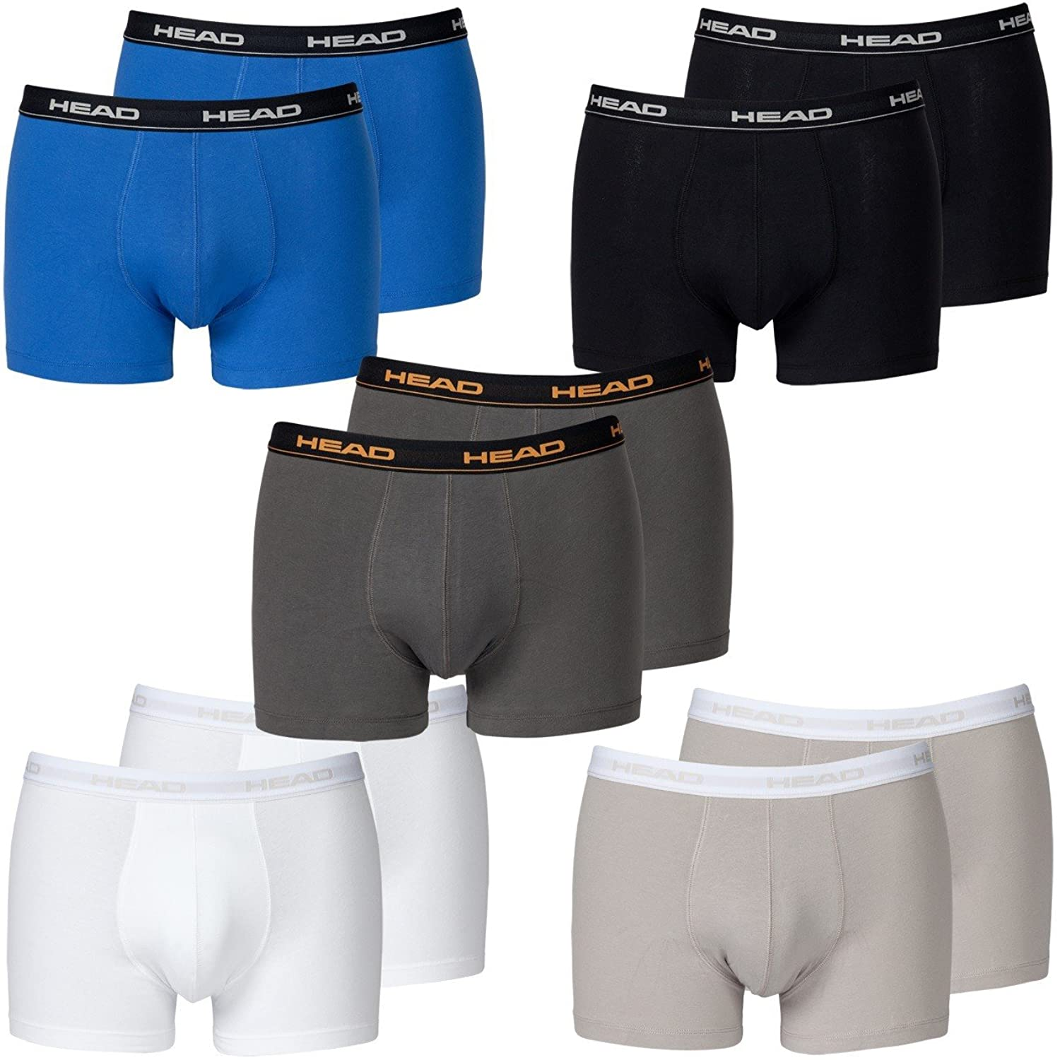 HEAD Men Boxer shorts 841001001 Basic Boxer 10er Pack