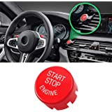 Jaronx Sports Red Start Stop Engine Switch Button Compatible with BMW,Power Ignition Start Stop Button Replacement(Compatible