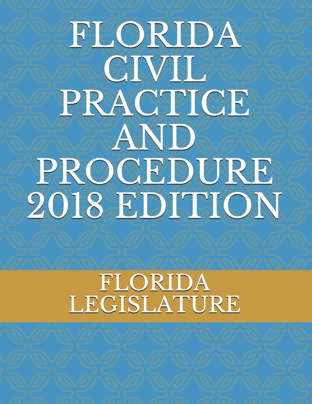 FLORIDA CIVIL PRACTICE AND PROCEDURE 2018 EDITION Paperback – August 8, 2018 FLORIDA LEGISLATURE Independently published 1718079966 LAW / Civil Procedure