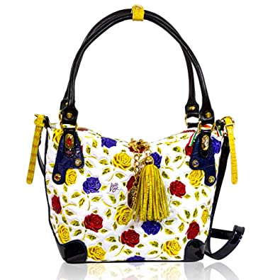 Image Unavailable. Image not available for. Color  Marino Orlandi Italian  Designer Handpainted Yellow Roses Leather Purse Crossbody Bag 3d025cbe4b53b
