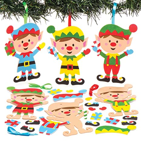 Baker Ross Kits de Duendes Decorativos combinables (Pack de 6) para Manualidades y Decoraciones navideñas Infantiles: Amazon.es: Juguetes y juegos