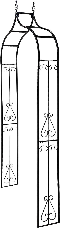 Giardino esterno Prato Cortile Cortile Nero opaco OUTOUR Arco esterno per giardino Arbor Arbor Trellis Archway per piante rampicanti Rose Viti Supporto rack