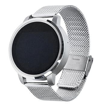 Bluetooth Smart Smart Reloj de pulsera, brazalete de fitness - Tensiómetro/Smart Reloj Salud/Contador de Calorías/Medidor de frecuencia cardíaca Pro Android ...