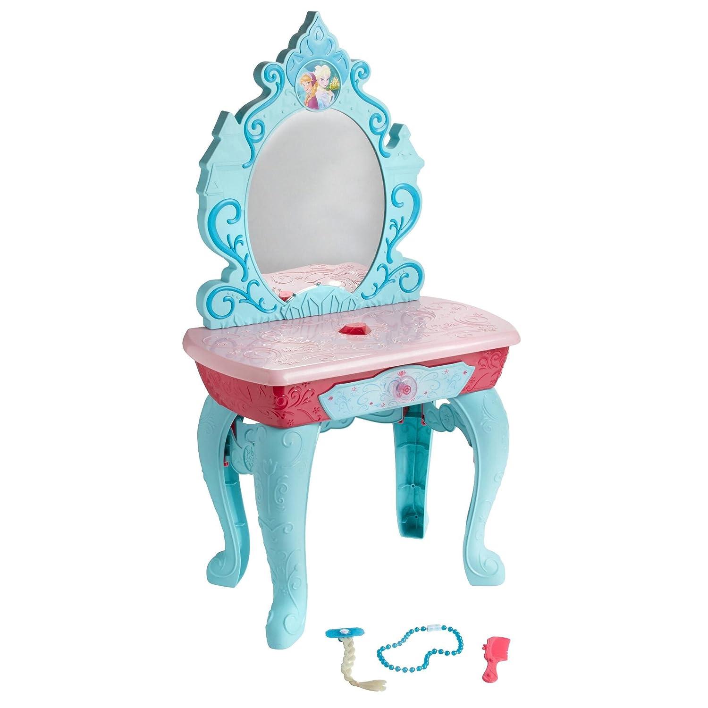 Disney Frozen Crystal Kingdom Beauty Vanity Playset with 7 Glam Hair Styling Beauty Accessories by Disney Jakks