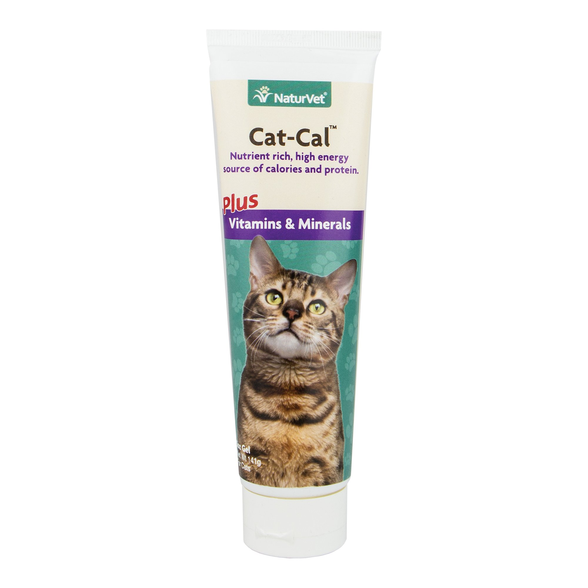 NaturVet Cat-Cal Nutritional Gel Plus Vitamins & Minerals for Cats, 5 oz Gel, Made in USA