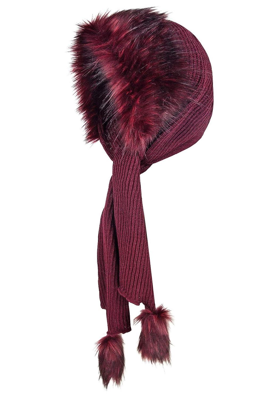 Futrzane Mujer Con Capucha Sombreros Bufanda De Lana De Piel Futrzane-czapkoszal-10-10