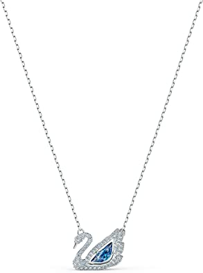 choque Erradicar crisantemo  Amazon.com: Swarovski 125th Anniversary Collection Dancing Swan Necklace,  Iconic Swan Pendant with Blue and White Crystals and Elegant Rhodium Plated  Chain: Jewelry