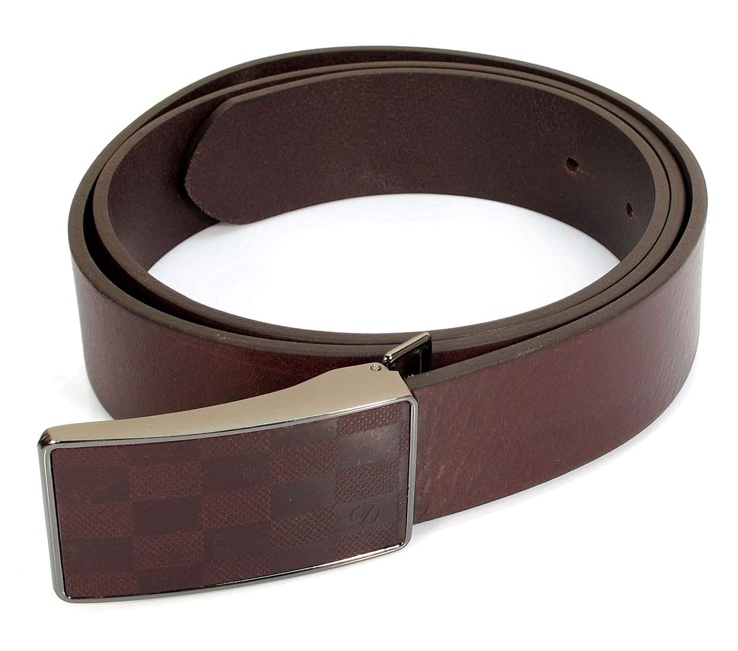 Mens Real Genuine Leather Belt Black Brown White 1.25 Wide S-L Casual Jeans CU3