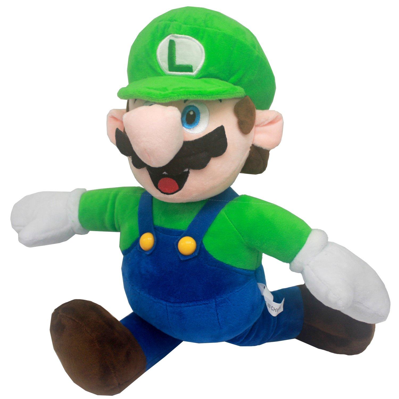 FAIRZOO Super Mario Plush, Luiqi, Mario Soft Stuffed Plush Toy Green - 16.5'' by FAIRZOO