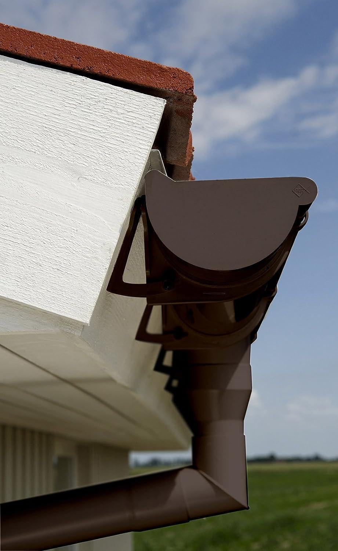 1 tige INEFA Tuyau de descente pluviale DN 50 100 cm PVC marron goutti/ère de toit marron 100 cm