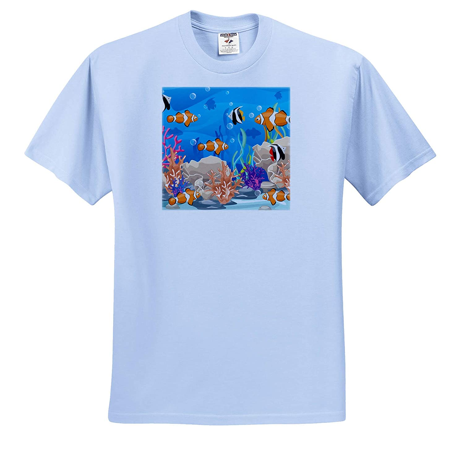 T-Shirts 3dRose Sven Herkenrath Animal Pretty Image of Underwater Life Fishes and Plants