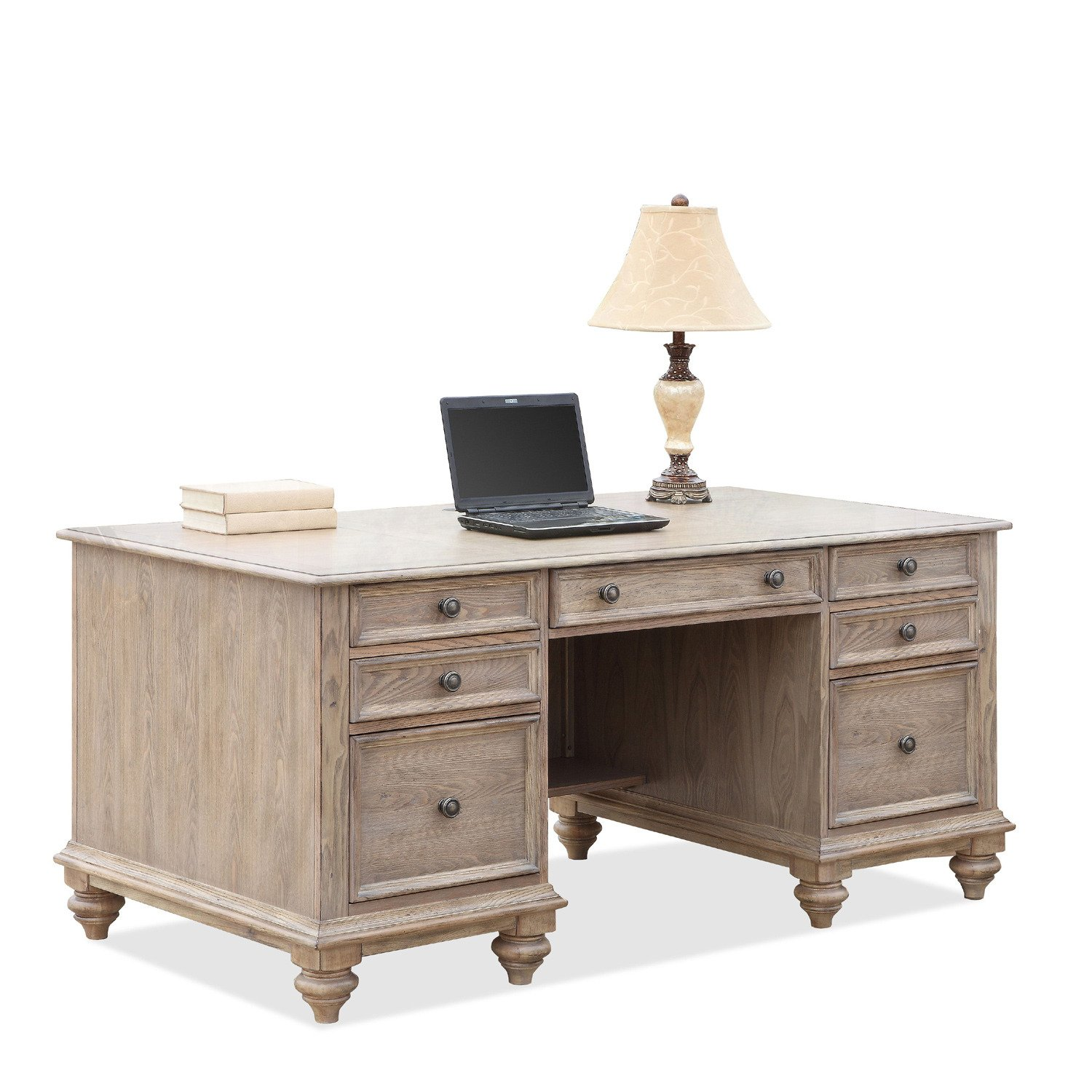 amazoncom coventry two tone executive desk w drawers kitchen dining