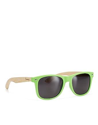 Sonnenbrille mit Holzbügel - Polarisierten Gläsern - Fancy Eyewear - Green/Black Rt02b14