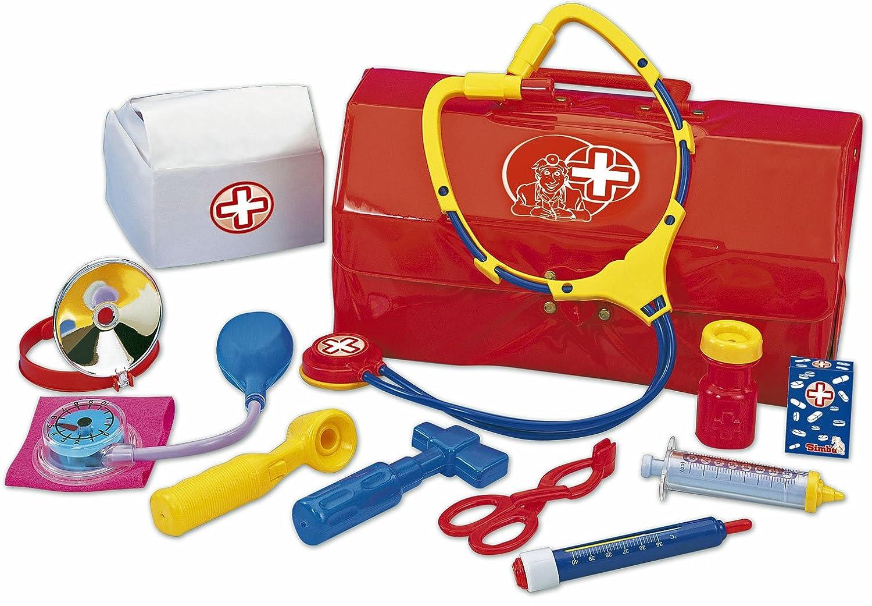 #0618 Arztkoffer Kinder Spielzeug Landarzt mit Stethoskop, 29x15cm reichlich Zubehör • Doktorkoffer Doktortasche Arzttasche Kinderarztkoffer H-Collection