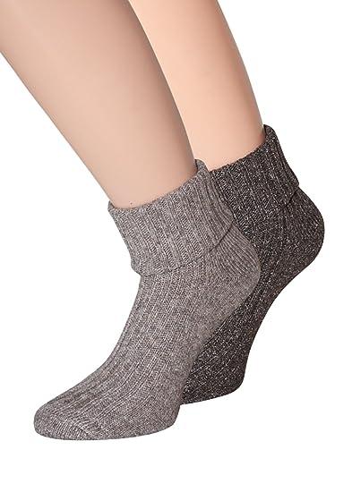 kb-Socken Woll Calcetines de lana con seda lana calcetines suave y cálido 35 - 38 39 - 42, 2 pares: Amazon.es: Ropa y accesorios