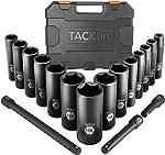 TACKLIFE Impact Socket Set 1/2-inch Drive SAE, 17pcs Drive Deep Impact