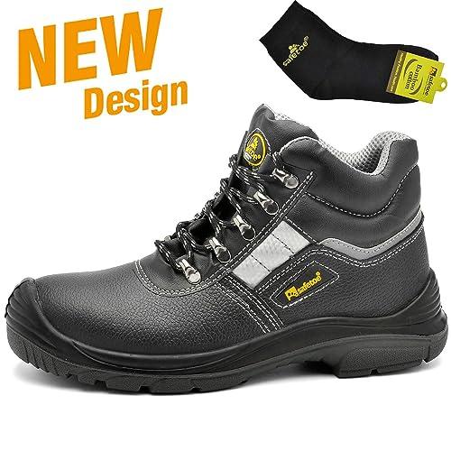 Botas de Seguridad deTrabajo s3 para Hombre - SAFETOE 8027 Zapatos de Trabajo con Punta de