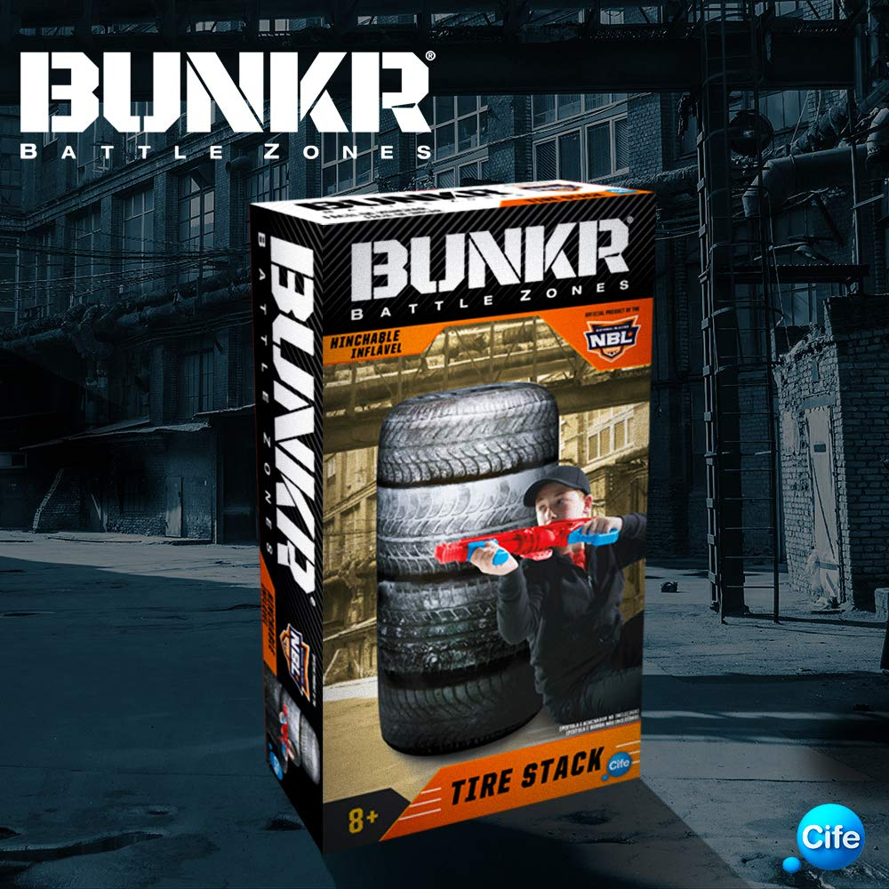 Amazon.com: Bunkr – Assorted Buttle Zone Take Cover Tire ...