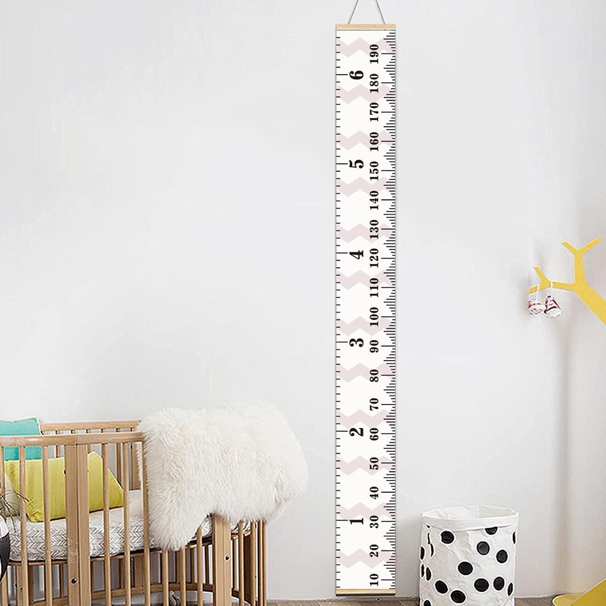 Vosarea Planche de Mesure Hauteur Diagramme Hauteur R/ègle de Croissance Wall Chart pour Chambre denfant D/écor