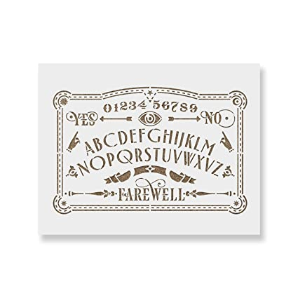 photograph regarding Ouija Board Printable referred to as Ouija Board Stencil Template for Partitions and Crafts - Reusable Stencils for Portray inside of Lower Heavy Dimensions